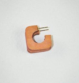 Binky & Lulu Leather Weekender Square Hoop Earrings