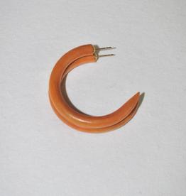Binky & Lulu Leather Weekender Small Hoop Earrings