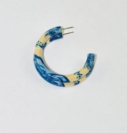 Binky & Lulu Toile Small Hoop Earrings