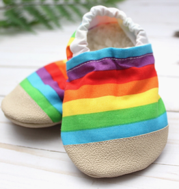 scooter booties Rainbow Stripe Baby Shoes