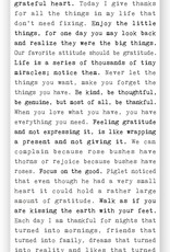 Cedar Mountain Typewriter Sign (Gratitude)