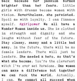 Cedar Mountain Typewriter Signs (Girl Power)