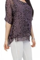 Gigi Moda Crew Neck Leopard Print