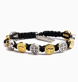 My Saint My Hero Benedictine Blessing Bracelet (Gold & Silver)