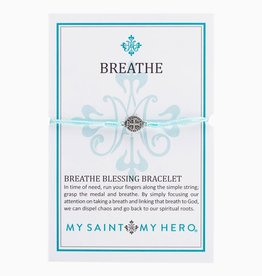My Saint My Hero Breathe Blessing Bracelet ( Silver)