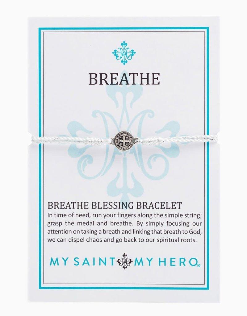 My Saint My Hero Breathe Blessing Bracelet ( Silver)