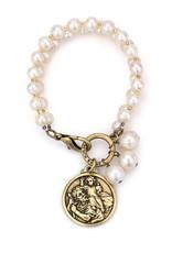 FRENCH KANDE White Pearl Bracelet