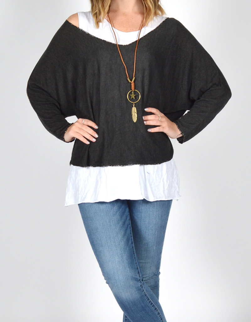 Catherine Lillywhites 2PC Tunic With Necklace