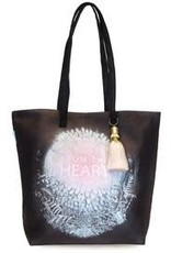 Papaya Art Bucket Tote, From The Heart