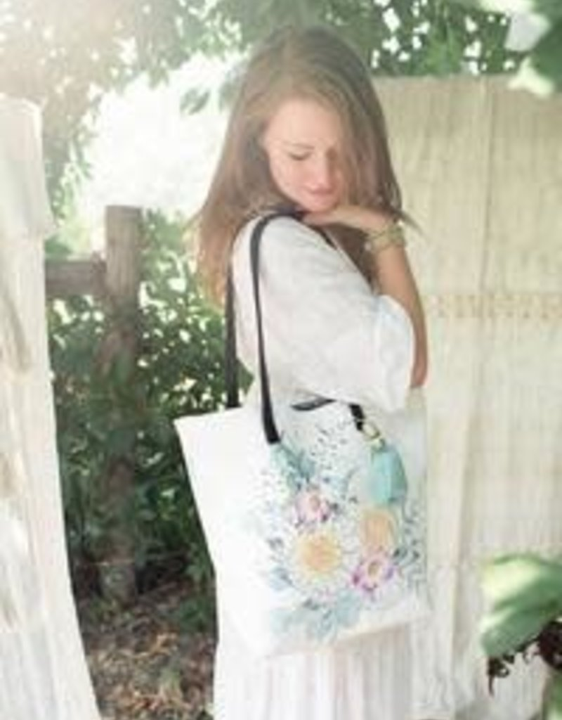Papaya Art Bucket Tote, Sunrise Petals