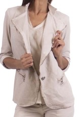 Gigi Moda Jacket With Gold Zipper (One Size)