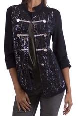 Gigi Moda Jackson Pollock Metallic Print Jacket (One Size)