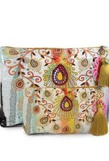 Papaya Art Large Tassel Pouch-Morocccan Peacock