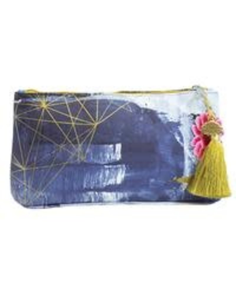 Papaya Art Small Tassel Pouch-Swirl