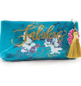 Papaya Art Small Tassel Pouch-Jewel Flower