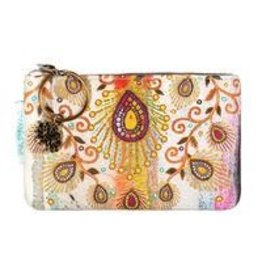 Papaya Art Coin Purses-Moroccan Peacock