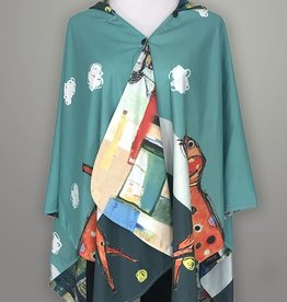 Inoah Rain Cape Ponchos -Reversible & One Size (Clifford)