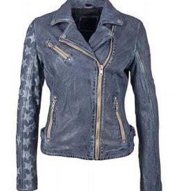 Mauritius Sofistar Leather Jacket (Sky Blue)