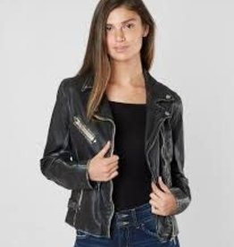 Mauritius Sofia Leather Jacket (Black)