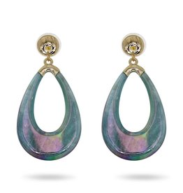 RUSH Blue Tear Drop Resin Earring