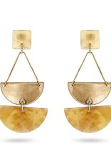 RUSH Gold & Resin Drop Earring