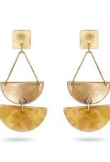 RUSH Gold & Resin Drop Earring