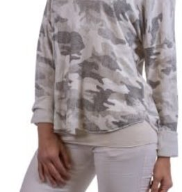 Gigi Moda 2 Pc Round Neck Camo Sweater(One Size)