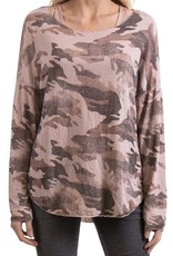 Gigi Moda 2 Pc Round Neck Camo Sweater