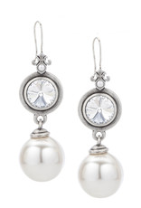 FRENCH KANDE Swarovski & White Pearl Earring