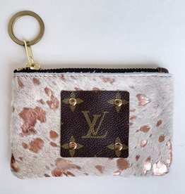 Magnolia Charm Vintage & Repurposed Coin Purse (Rose Gold)