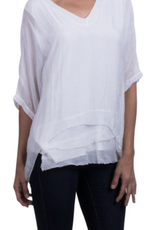 Gigi Moda Kaftan Blouse White ( One Size)