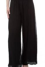 Gigi Moda Knit Waist Silk Pant (One Size Black)