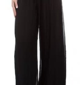 Gigi Moda Knit Waist Silk Pant (One Size Black)