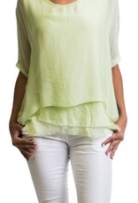 Gigi Moda Kaftan Blouse Mint  (One Size)