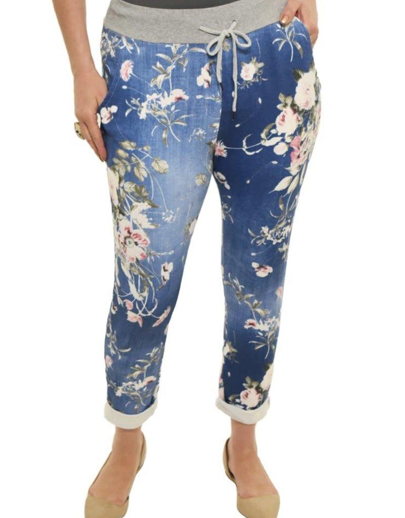 Catherine Lillywhites Dark Blue Floral Jeans