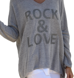 Gigi Moda Mohair Blend Rock & Love Sweater (Grey)