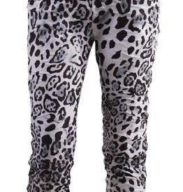 Gigi Moda Leopard Tie Waist Crop Pant (White)