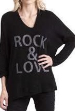 Gigi Moda Mohair Blend Rock & Love  (Black) (O/S)