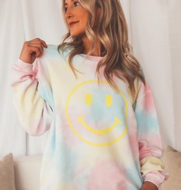 Friday+Saturday Smiley Tie Dye