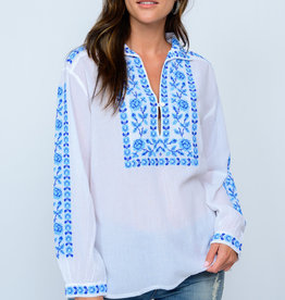 Ivy Jane Crossstitched Blues Top