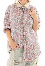 Magnolia Pearl European Cotton Boyfriend Shirt (Clover) O/S