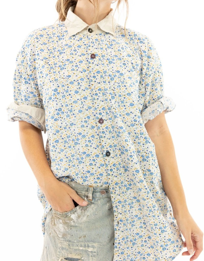 Magnolia Pearl European Cotton Boyfriend Shirt (Bluebella) O/S