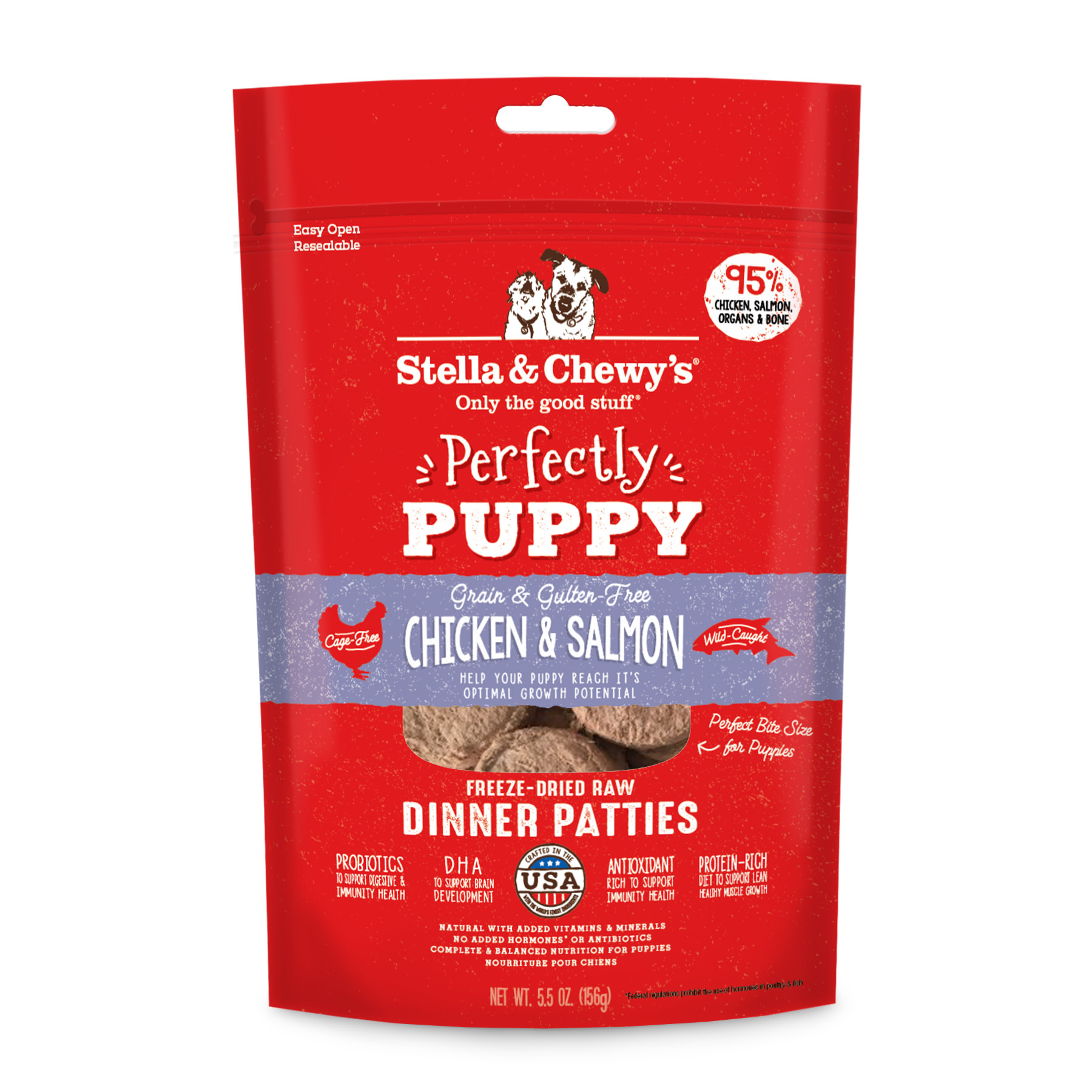 Puppy \ Chicken & Salmon Patties