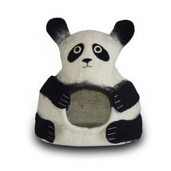 Wool Felt Panda - Black & White