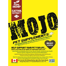 Mojo Pet Supplements Beef Liver 186g