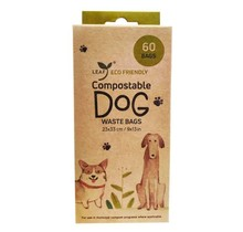 Eco Friendly Compostable Poop Bag - 60 Count - 4 Rolls