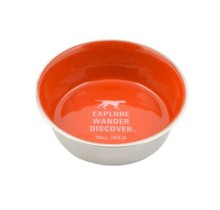 Orange Stainless Steel Bowl