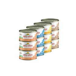 Hqs Natural Variety Pack Chicken And Tuna Items - 12X70Gr