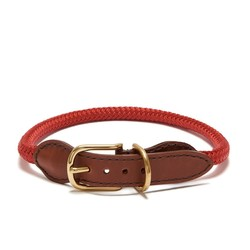 Adjustable Rope Collar - Red