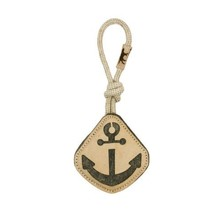 """Natural Leather & Wool Anchor - 14"""""""